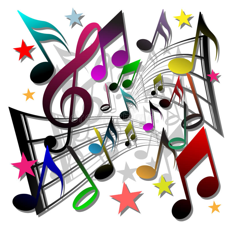 Notas de la música ilustración del vector