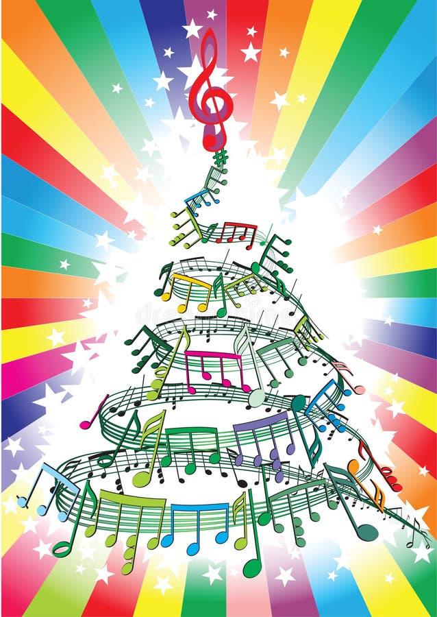 Notas de la música del Año Nuevo ilustración del vector