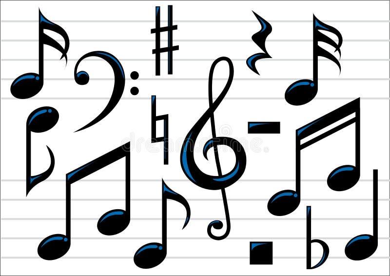 Notas de la música del vector stock de ilustración