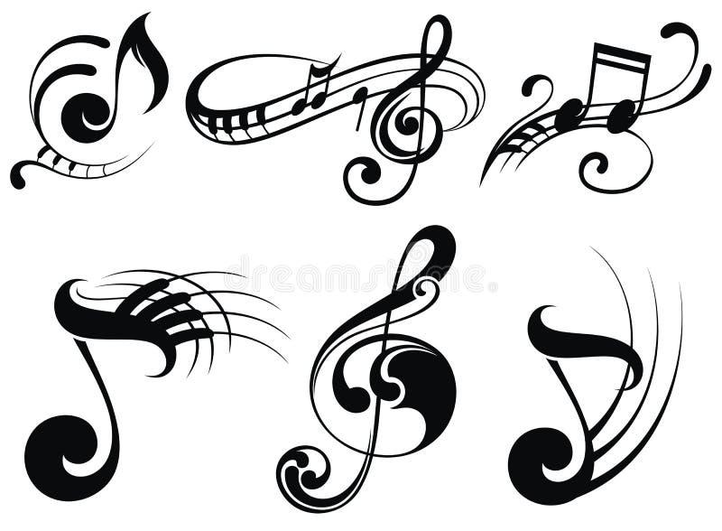 Notas de la música sobre bastones libre illustration