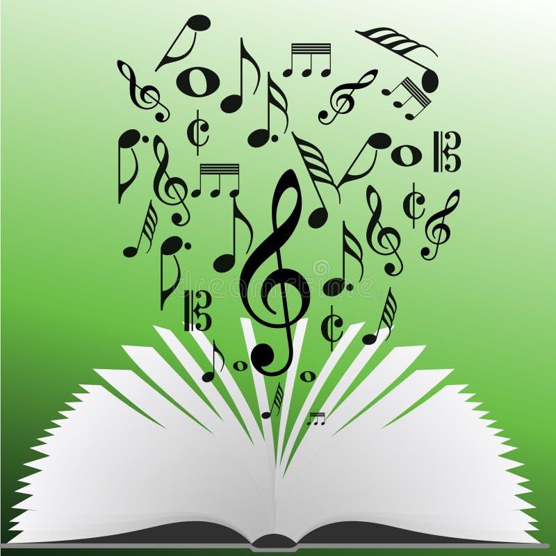 Notas de la música de un libro libre illustration