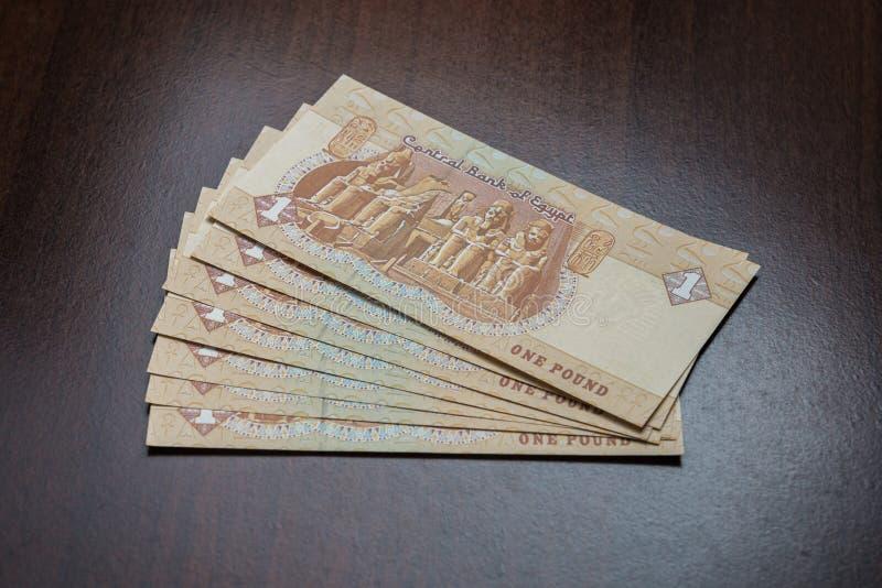 Notas de la moneda de la libra egipcia fotos de archivo