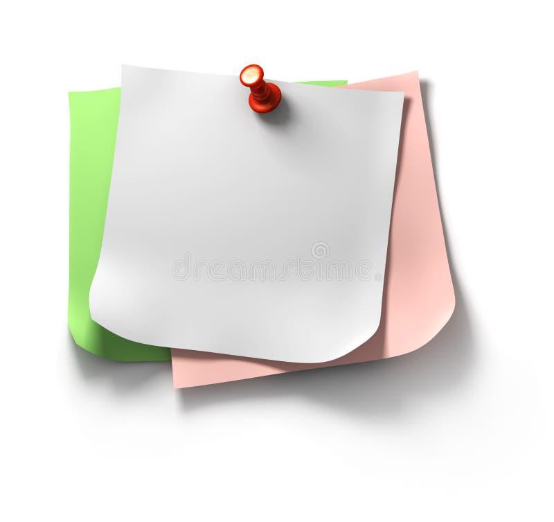 Notas de la nota sobre la pared ilustración del vector