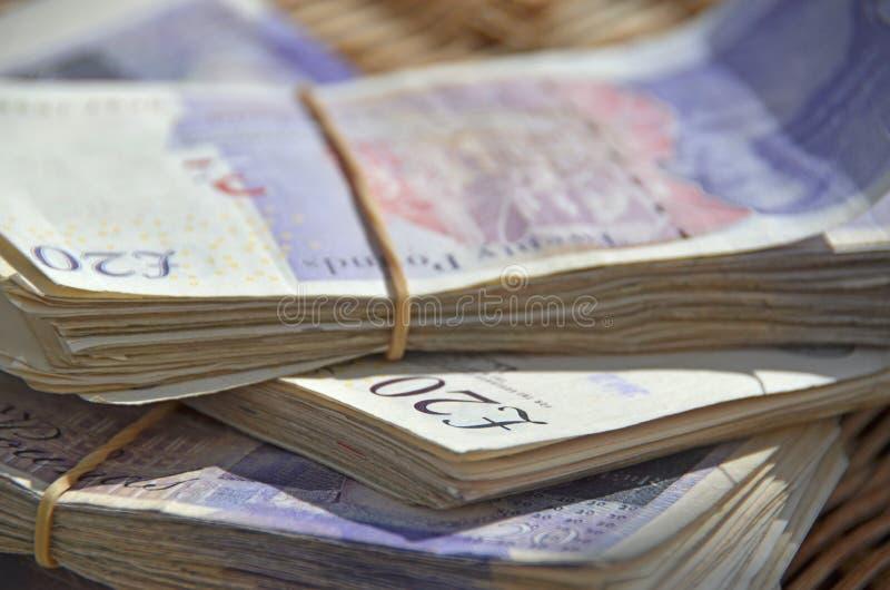 Notas de 20 libras imagem de stock royalty free
