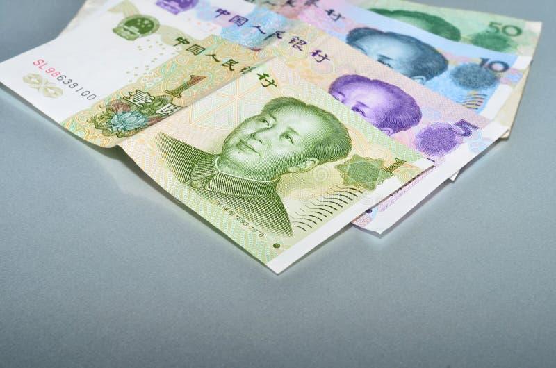Notas de moeda chinesa imagens de stock