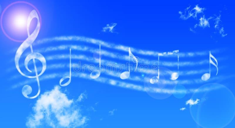 Notas de Musicals stock de ilustración