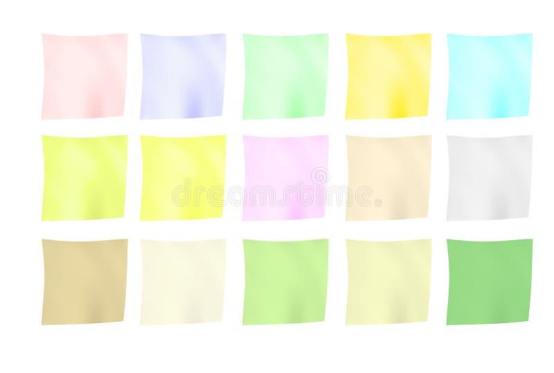 Notas de papel arrugadas stock de ilustración