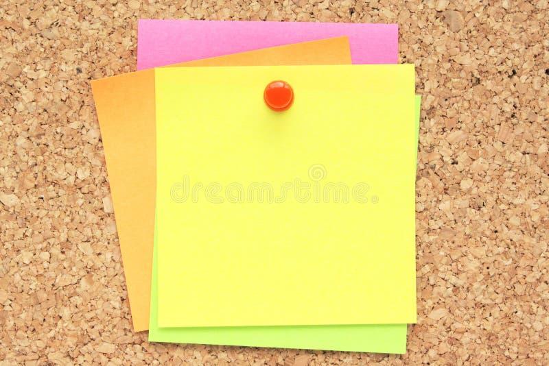 Notas de post-it imagen de archivo libre de regalías
