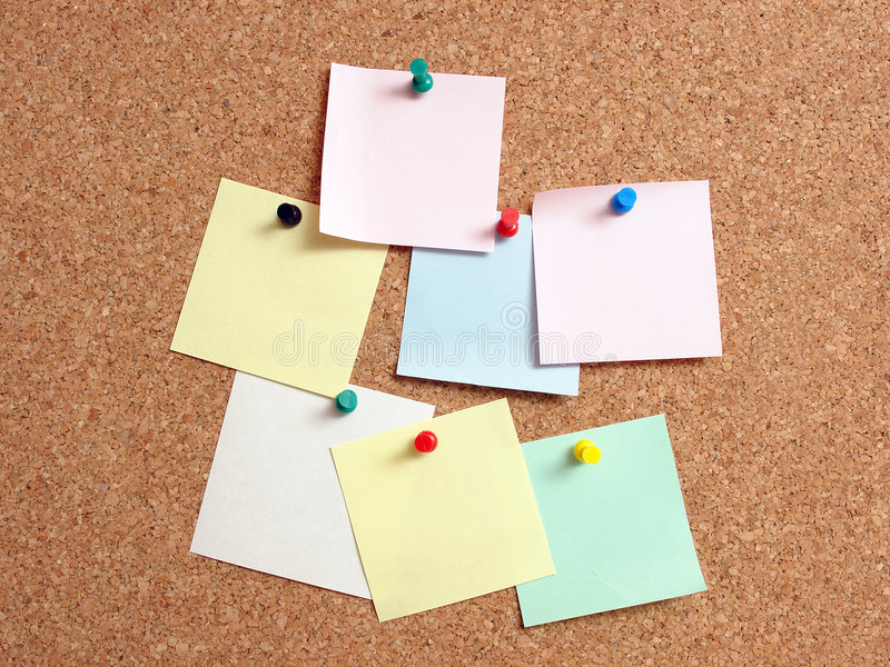 Notas de post-it imagen de archivo