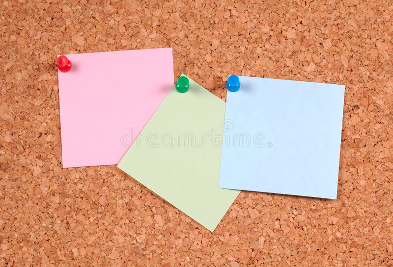 Notas de post-it fotografía de archivo libre de regalías