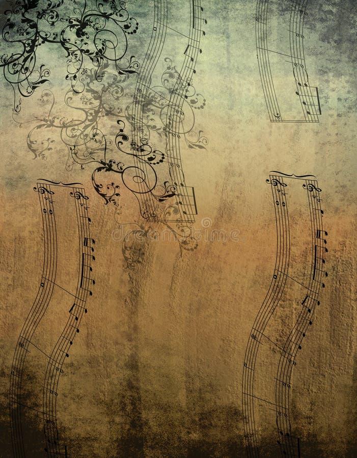 Notas decorativas de la música foto de archivo libre de regalías