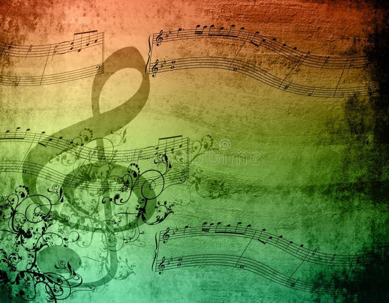 Notas decorativas de la música fotografía de archivo libre de regalías