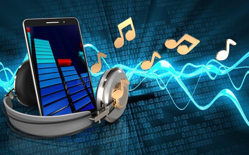 Download Notas Del Espacio En Blanco 3d Stock de ilustración - Ilustración de sonido, música: 100530231