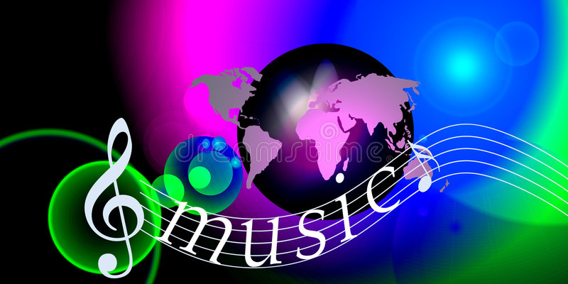 Notas del mundo de la música del Internet libre illustration
