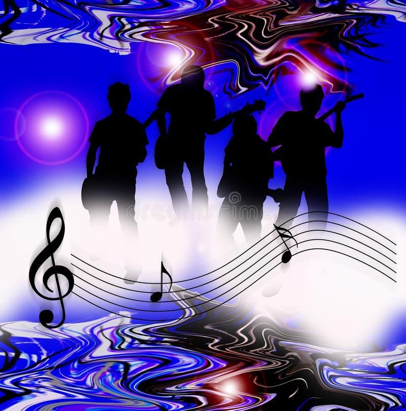 Notas del mundo de la música del Internet ilustración del vector