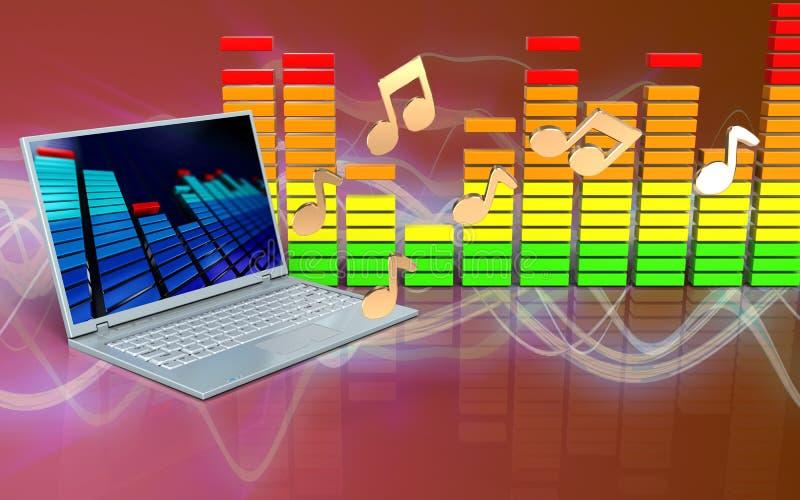 notas del ordenador portátil 3d stock de ilustración