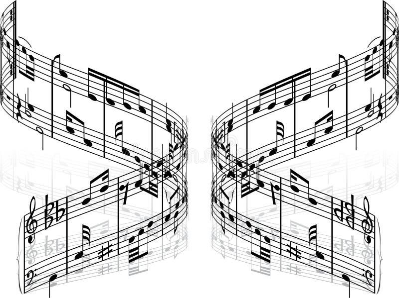 Notas del vector ilustración del vector