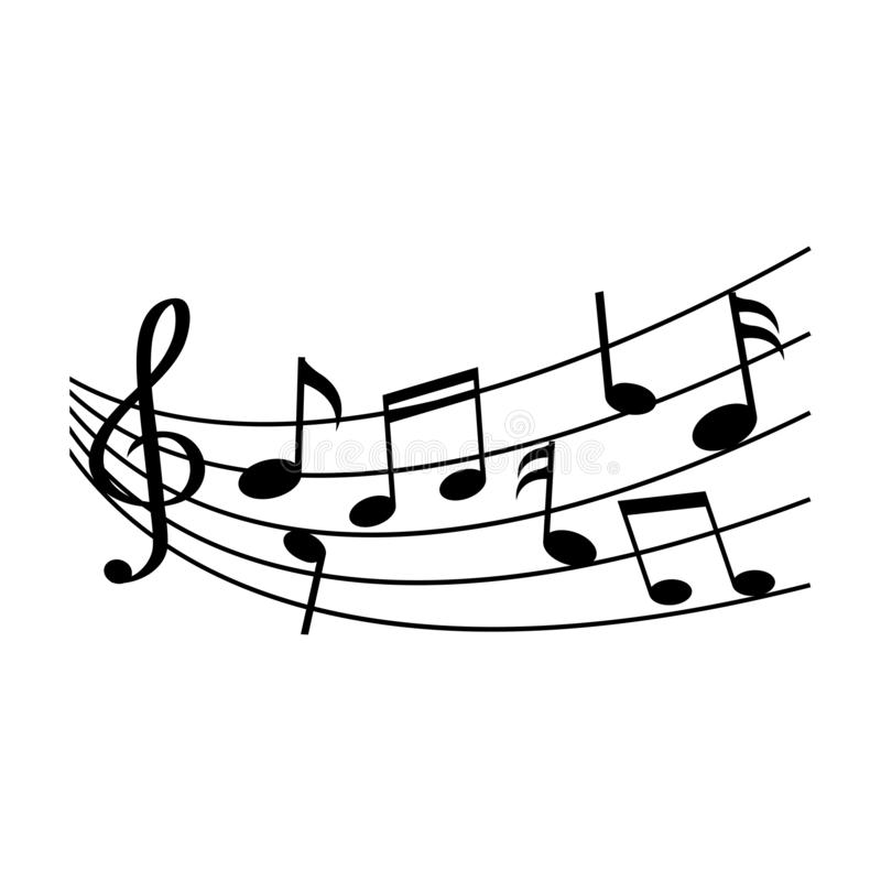 Notas diferentes da música Ilustração do vetor ilustração do vetor