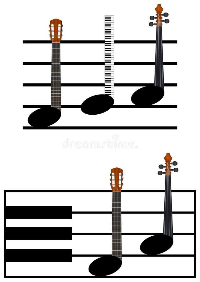 Notas divertidas de la música libre illustration