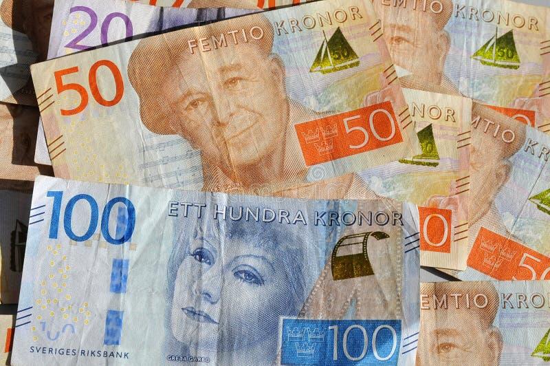 NOTAS DO KRONOR DE SUECO EM COPENHAGA DENAMRK foto de stock