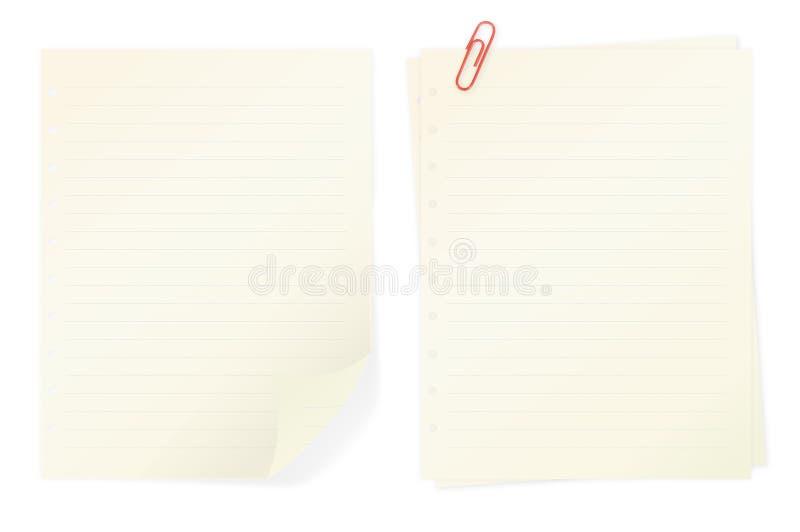 Notas do memorando isoladas no fundo branco imagem de stock royalty free
