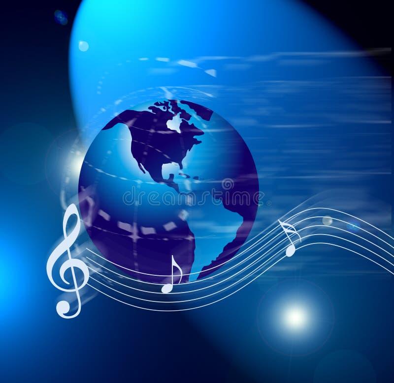 Notas do mundo da música do Internet fotos de stock royalty free