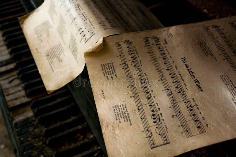 Notas do piano fotos de stock royalty free