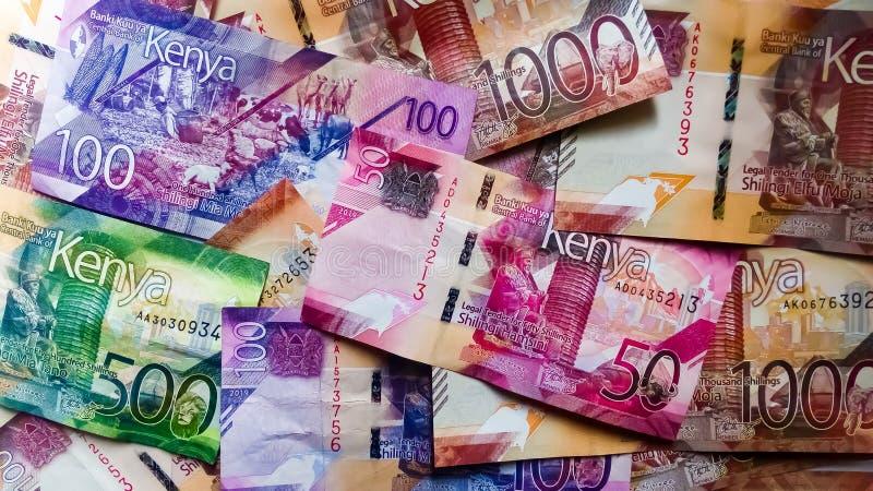 Notas do Quênia - Muitas e Diferentes fotos de stock royalty free