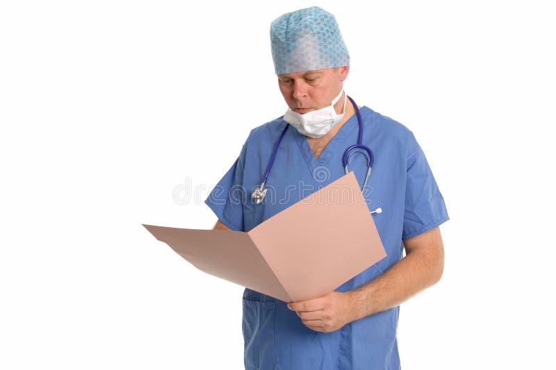 Notas dos cirurgiões fotografia de stock royalty free