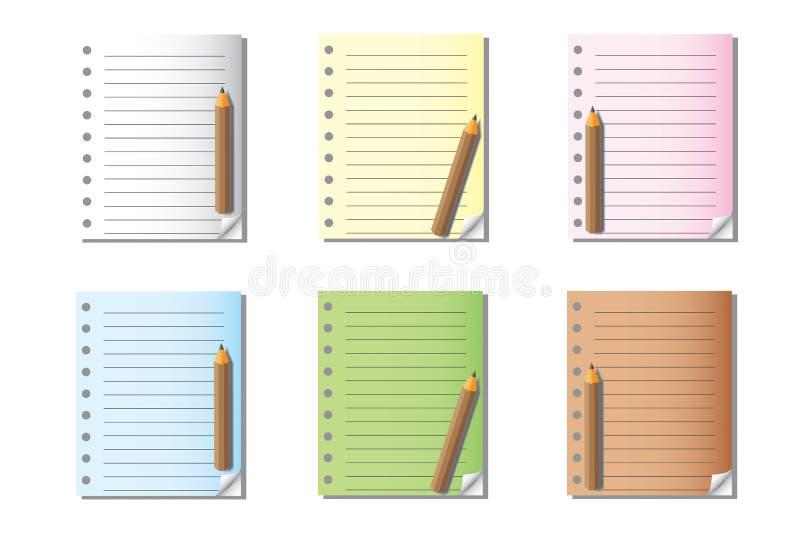 Notas e papel vazios imagens de stock royalty free