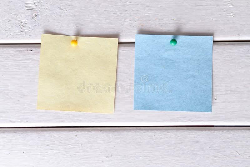 Notas, etiquetas fotografia de stock