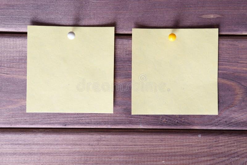 Notas, etiquetas engomadas foto de archivo libre de regalías