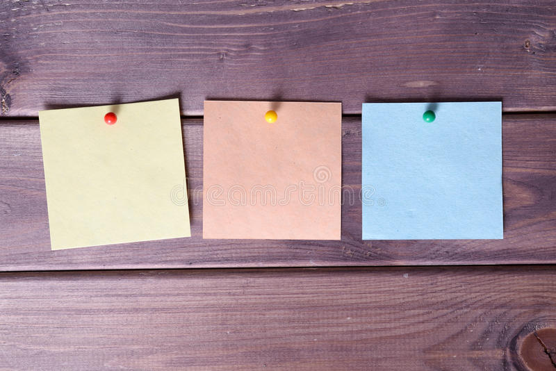 Notas, etiquetas engomadas fotografía de archivo libre de regalías