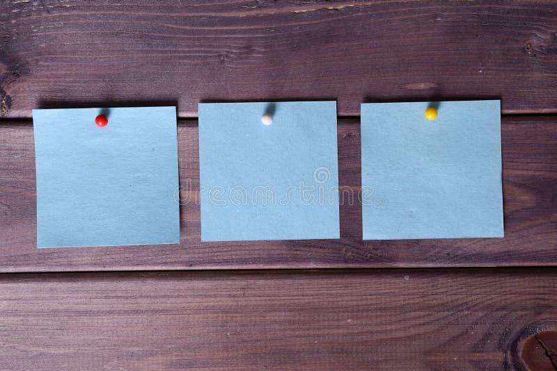 Notas, etiquetas engomadas imagenes de archivo