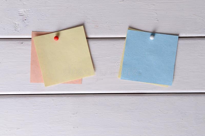 Notas, etiquetas engomadas imagen de archivo