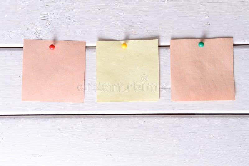 Notas, etiquetas engomadas imagen de archivo libre de regalías