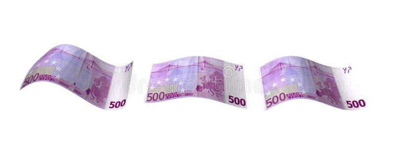 Notas euro que vuelan stock de ilustración