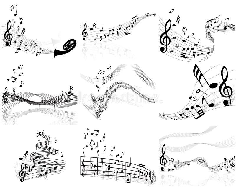 Notas fijadas ilustración del vector
