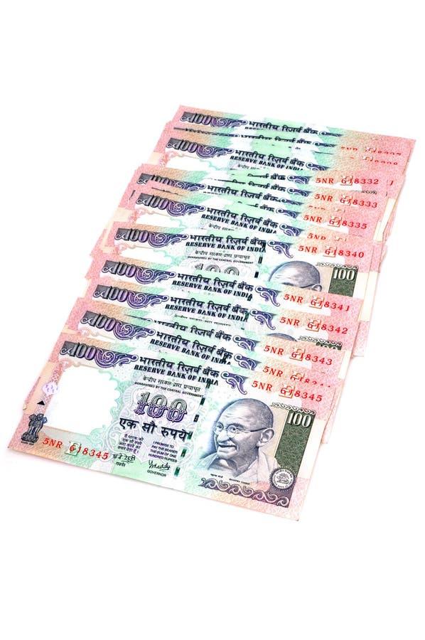 Notas indianas da moeda imagens de stock