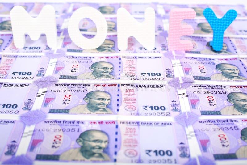 Notas indias del dinero en circulación imagen de archivo libre de regalías