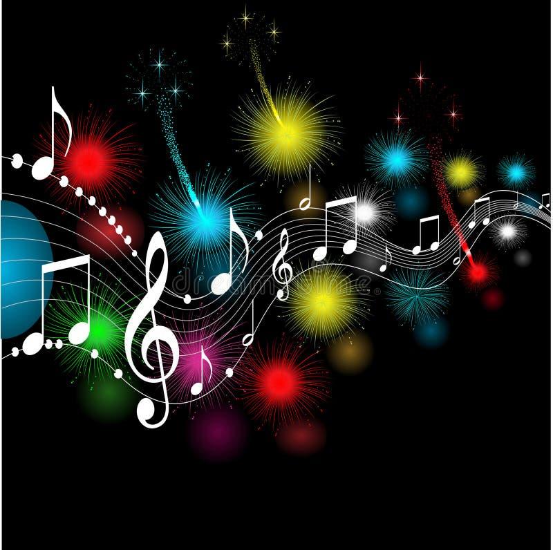 Notas musicais, ilustração do vetor