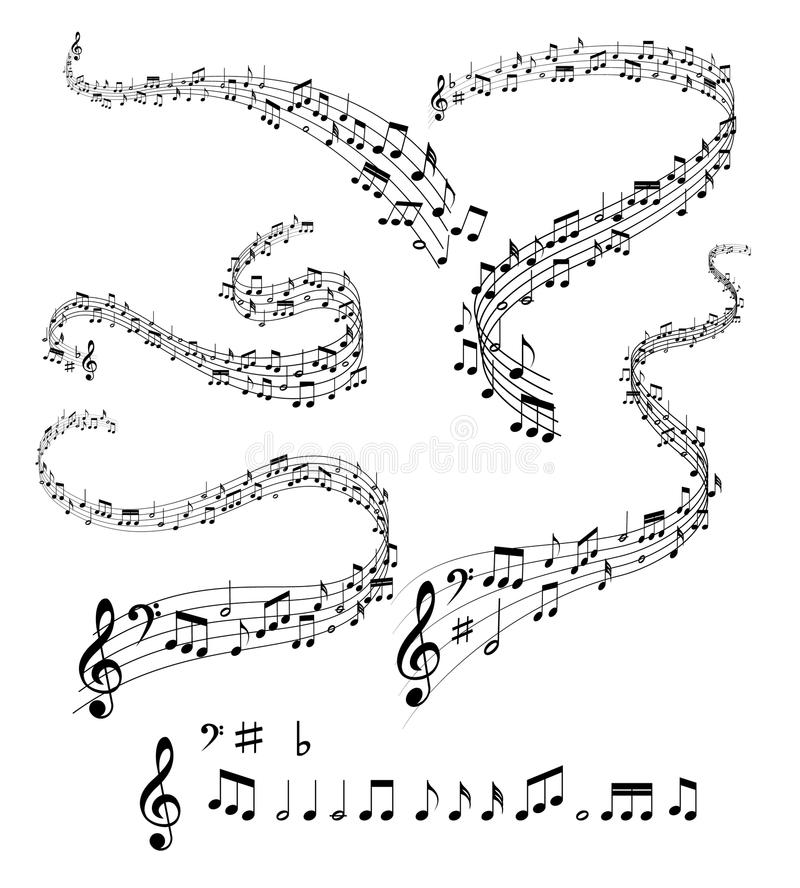 Notas musicais ilustração do vetor