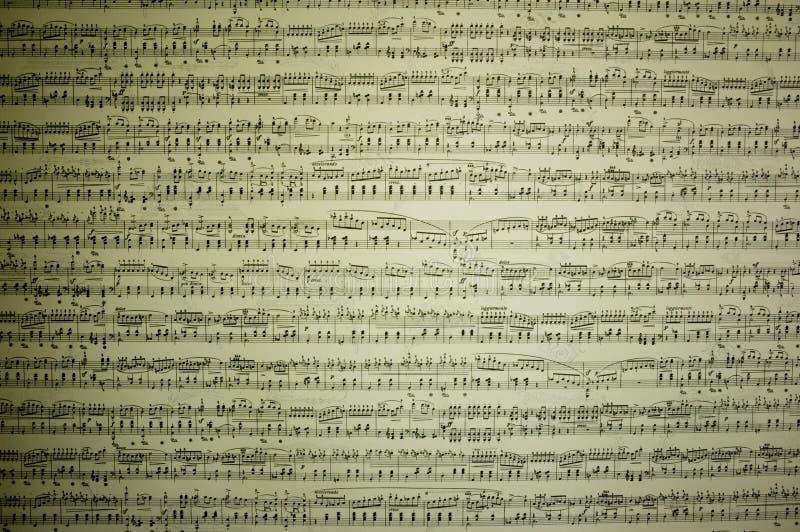 Notas musicais fotografia de stock