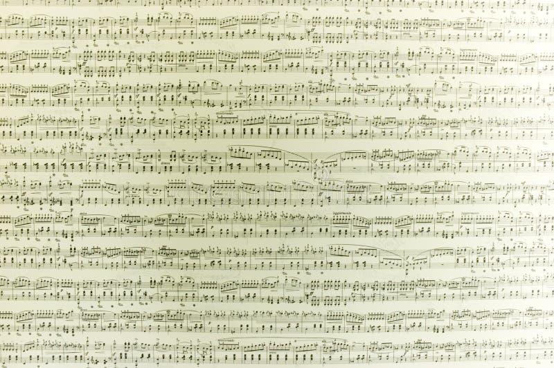 Notas musicais imagem de stock