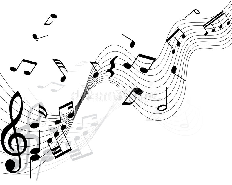 Notas musicais ilustração royalty free