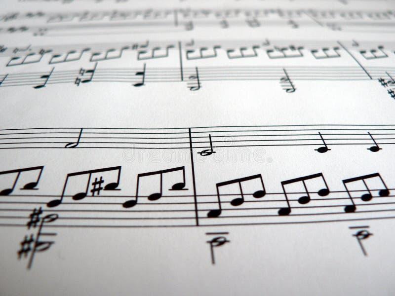 Notas musicais foto de stock