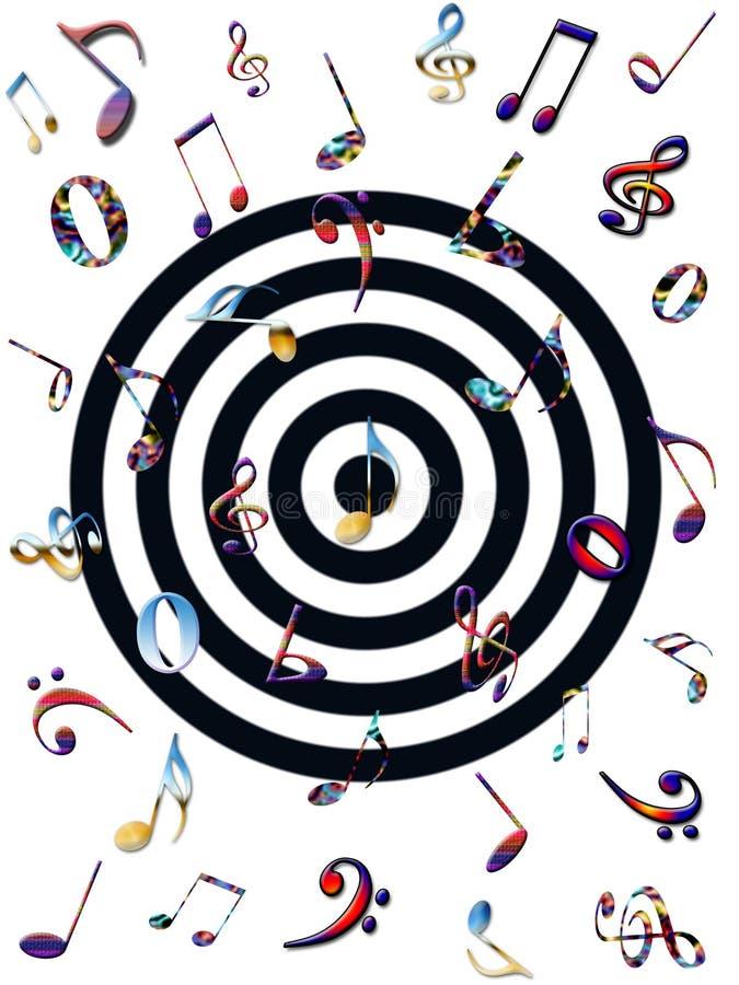 Notas musicais coloridas ilustração do vetor