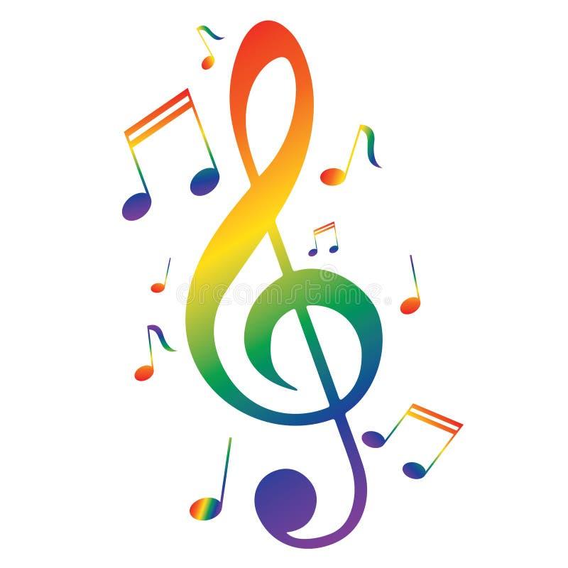 Foto Nota Musical ~ Notas musicais coloridas ilustraç u00e3o do vetor Ilustraç u00e3o de u00e3 u00adcone 91331175
