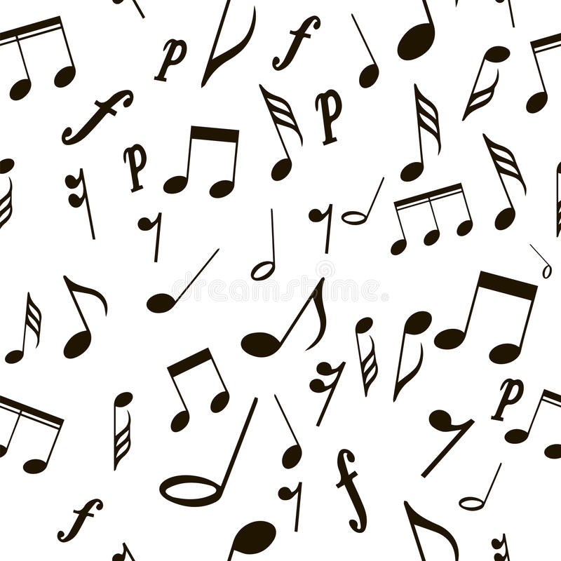 Notas musicais do teste padrão sem emenda ilustração do vetor