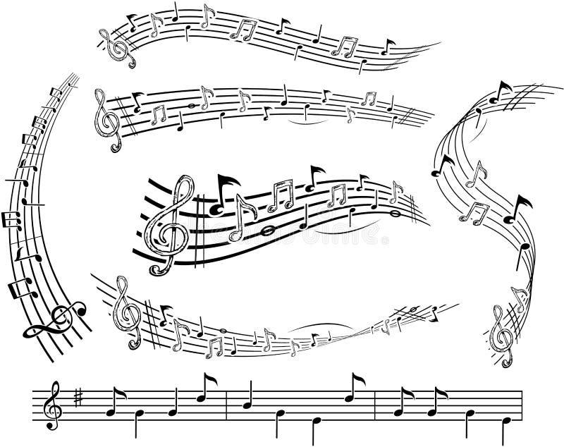 Notas musicais do vetor ilustração royalty free